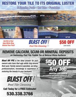 Blast Off Pool Tile Cleaning